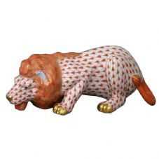 Herend Porcelain Fishnet Figurine of a Lion